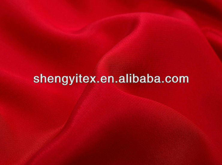 100% polyester fabric/polyester weaving fabric/Red Brushed Microfiber Fabric