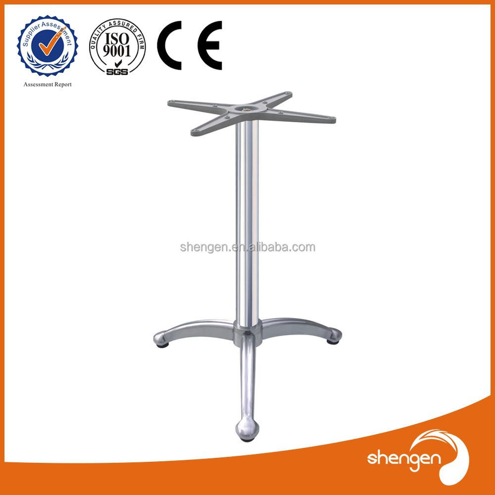3 legs modern cast aluminum table base hairpin table legs cross leg coffee table