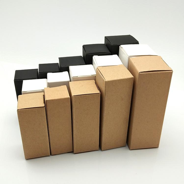 Migpack 2019 nuovo packaging cosmetico marrone bianco nero su misura bottiglia di vetro olio essenziale kraft scatola di carta regalo