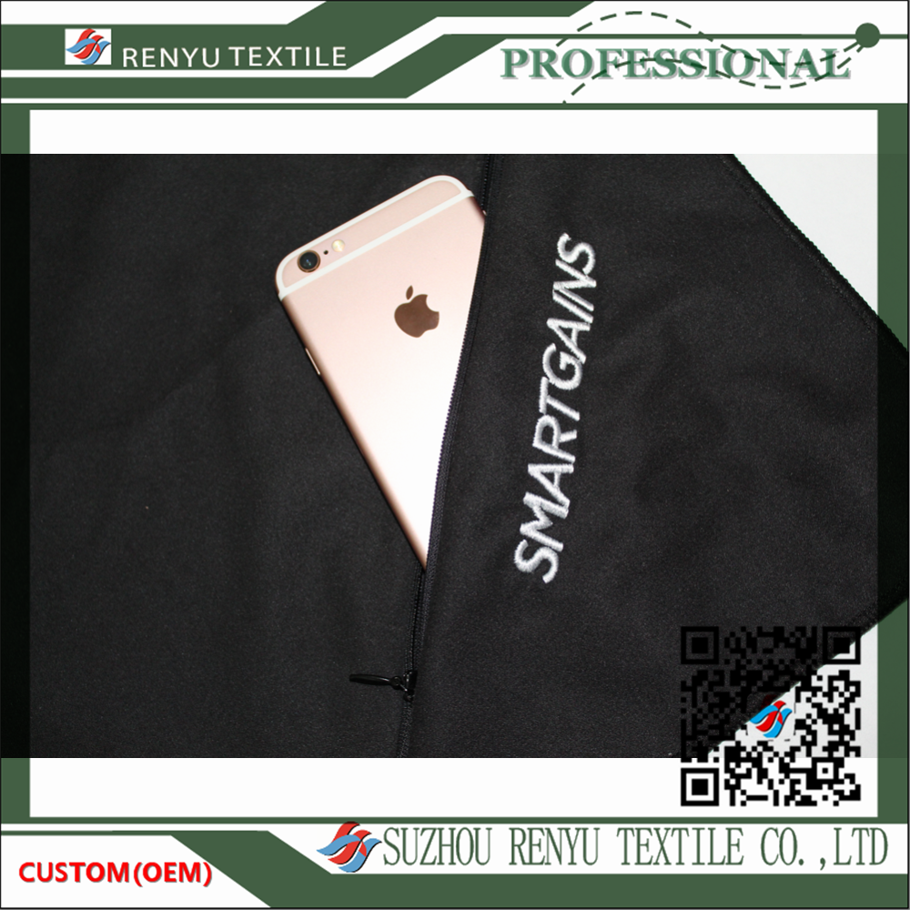 China supplier custom printed microfiber protable sport towel