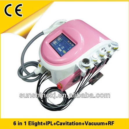 Salon Top 6 handles hair removal ipl galvanic facial beauty machine with CE/TUV