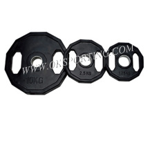 Wholesale Black Rubber Barbell Plates Adjustable Weight Barbell Plates