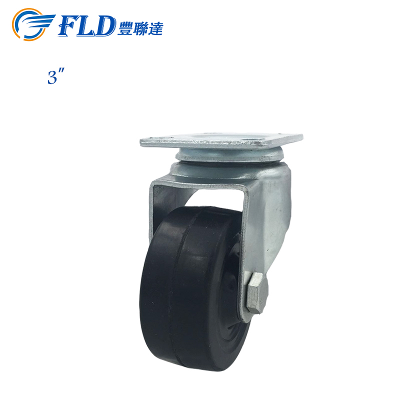 Trolley wheel 3 inch PU Caster And Wheel For Hand Cart