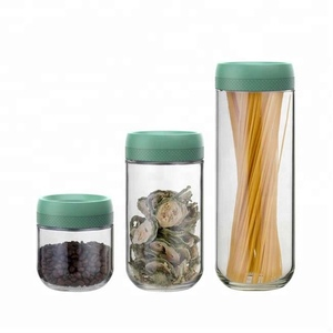 SINO GLASS 3 pcs trade assurance unique design big eye magnifying top airtight glass storage jar / glass container