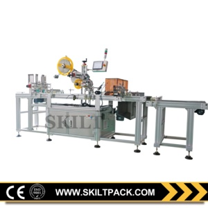 Automatic sticker paper plastic bag top paging labeling machine