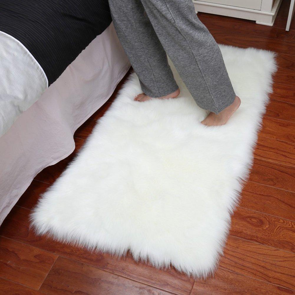 Get Quotations Junovo Luxury Plush Fuax Sheepskin Area Rug Fluffy Fur Shag Carpet 2ft X 3ft