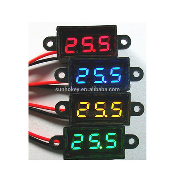 Nuovo Arrivo 0.28 pollice Micro Voltmetro Display LED Impermeabile 3.50-30.0 V 2 line access Voltmetro Antipolvere Display Digitale