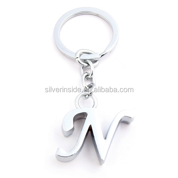 "New Cute Letter ""N"" Thick Charm Keychain"