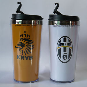 Mugs Drinkware Type and Plastic Travel Mug With Ppaer Insert