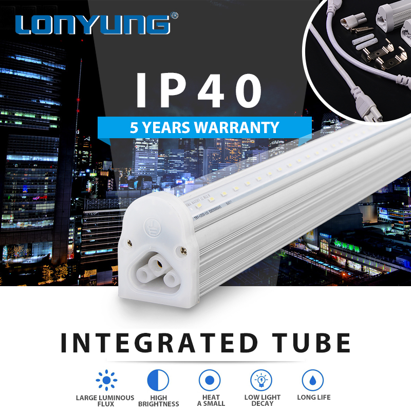 LED Fluorescent Replacement Tube Light CLEAR LENS School Warm/Natural/Cool White led tube light