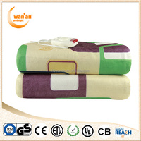 Synthetic Wool+Polyester Double Controllers Electric Blanket for Europe market