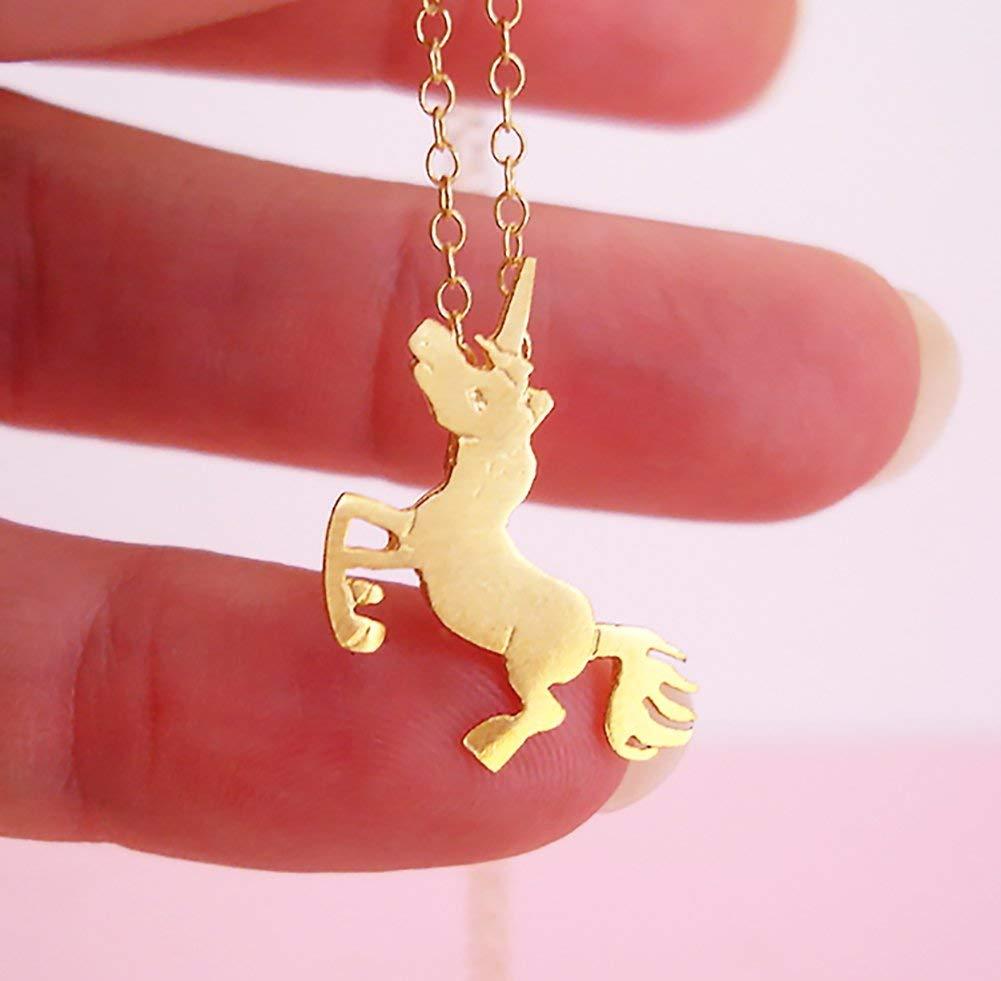 Gold Unicorn Necklace Unicorn Jewelry Unicorn Jewellery Unicorn Gift Sterling Silver Gold plated Unicorn Necklace by Dialecti Paslidou Jewelry