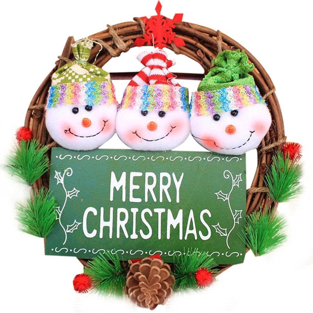 get quotations christmas decormorecome wreath christmas garland party hanging door decor b