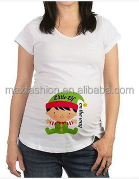 61798efd0f4 China Supplier New Cafepress Little Elf on the Way Maternity Christmas Tee  Shirt S M L XL