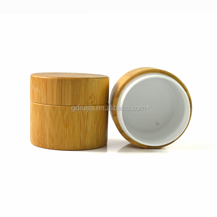 Taobao Empty 30g 50g 100g Cream Wooden Cosmetic Jar And Bottle