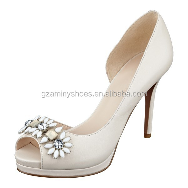 summer with bridal wedding model crystal peep shoes 2015 heel New toe woman shoes high dress p5q7qCw