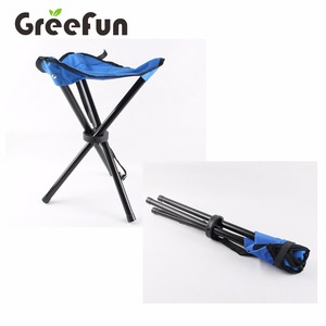 New Portable Colorful Metal Folding Chair Outdoor Camping Tripod Folding Stool Chair New Camping Equipment China Supplier