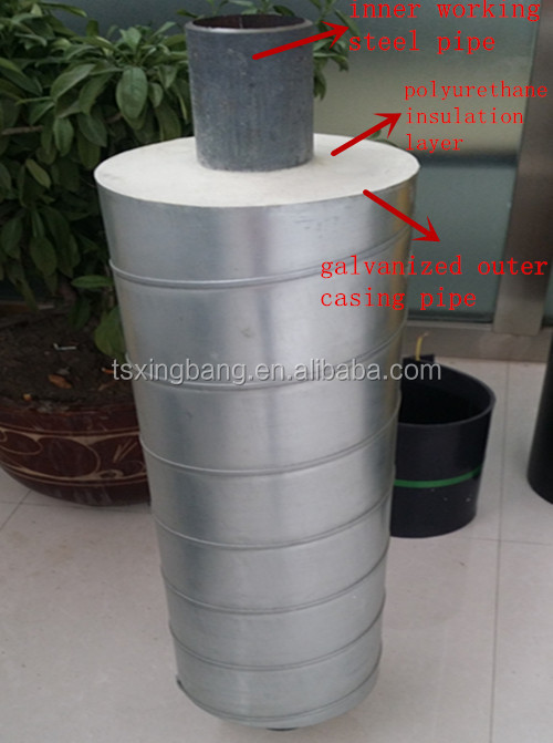 high quality insulated pipes with pu foam chilled water pipe work for air conditioning refrigeration and ventilation