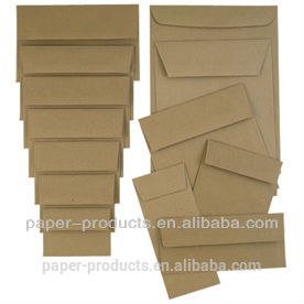 Eco friendly customized cheap paper envelope gift card envelope