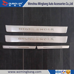 High Quality Car exterior accessories Door Sill Scuff Plate For 2012 Highlander Toyota