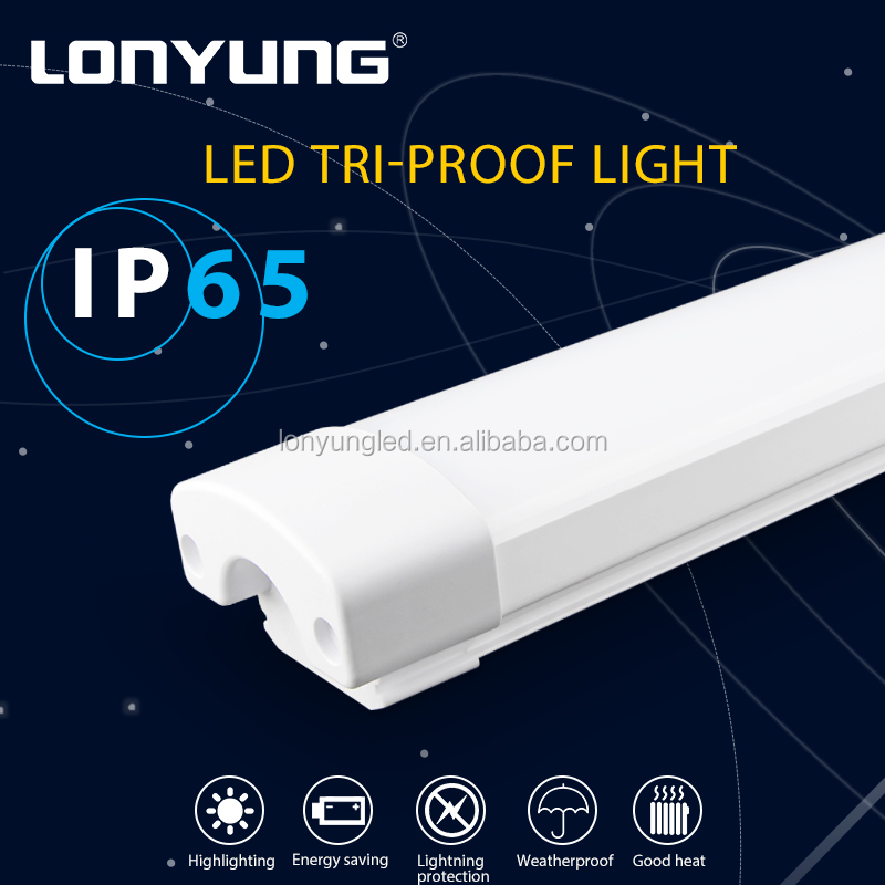 LED Vapor Tight Fixture outdoor products 2foot 3foot 4foot 5foot led waterproof t8 tri proof fluorescent light