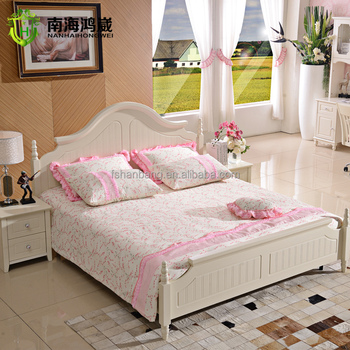 Wholesale White Colour Wooden Provence French Style Shabby Chic Bedroom  Furniture Set