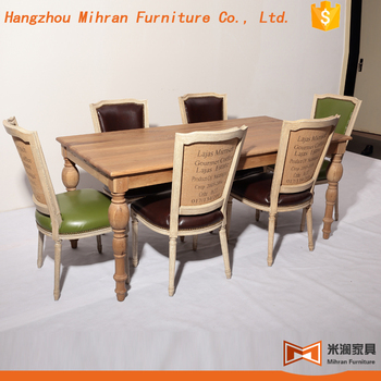 Oval Solid Wood Dining Table Design