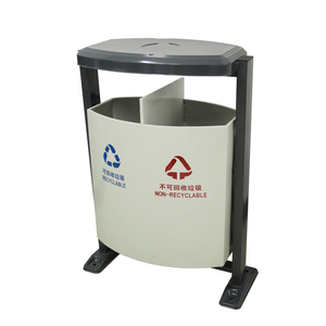 Arlau outdoor metal garbage box,rectangular black galvanized steel garbage bin,metal park garbage bin