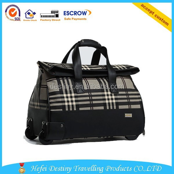2015 Hot selling new design fashional practical high quality travel world trolley bags