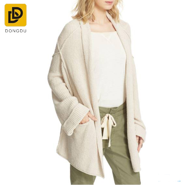 Custom Spring women new sweater long knitted cardigan sweater coat female tide