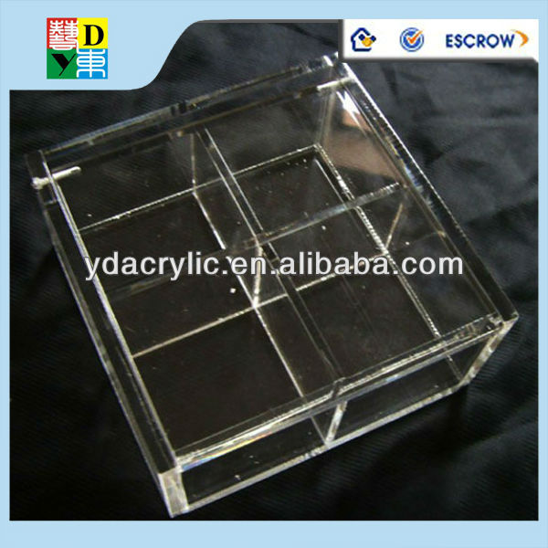 clear acrylic box with dividers clear acrylic display box with lid clear acrylic compartment display box