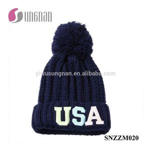 7be5ce1dd04 Latest Leisure Fluorescent Luminous Embroidery Letter Knitted Hats
