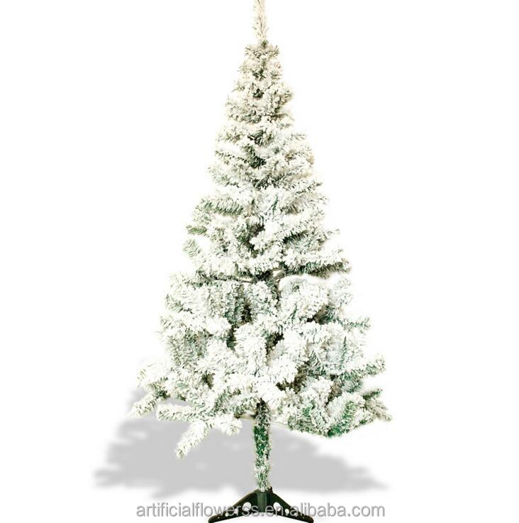 Hot sell decorative flocked snowing artificial christmas tree