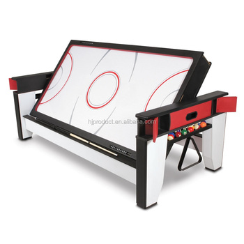 6FT 7FT 8FT Rolling Multi Game Air Hockey Table With Billiard Table