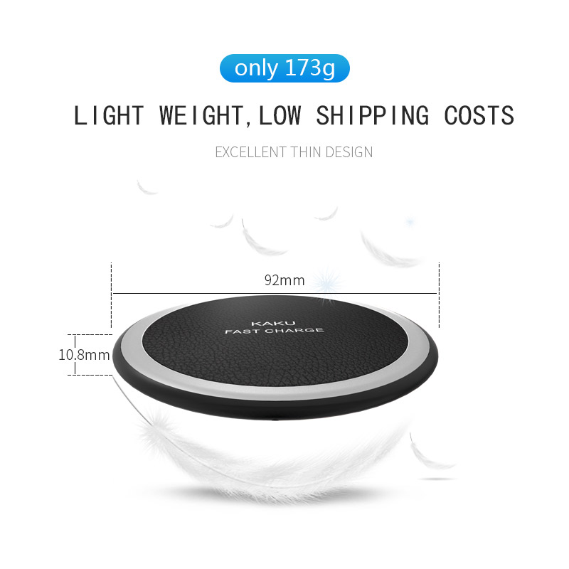 2019 New Round Shape 9v output 7.5W 10W Fast Charge universal QI Mobile Phone Wireless Charger for Samsung S8 S9 for iphone X XR