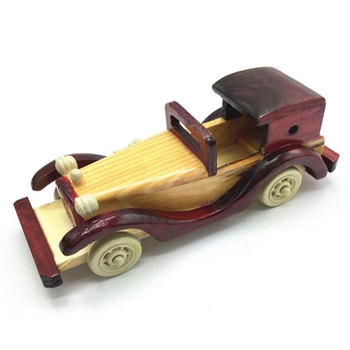Wholesales handmade resin wooden toy car antique wooden vintage model car
