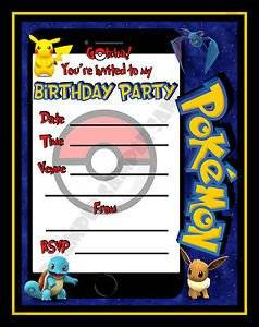 Get Quotations 10 Pokemon Go Birthday Party Invite Invitations