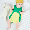 China suppliers new design boutique baby clothing romper 100%cotton comfortable sleeveless baby romper