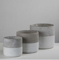 a set of 3 flower pot ceramic planter