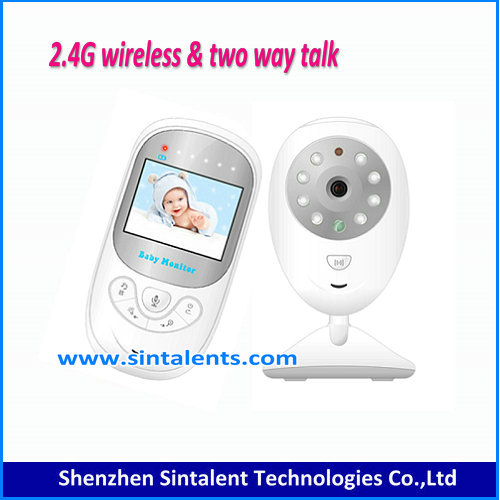 2.4 inch Color Video vb601 wireless baby monitor with 8 Lullabies camera 2 Way Talk Nigh Vision IR LED Temperature Monitoring