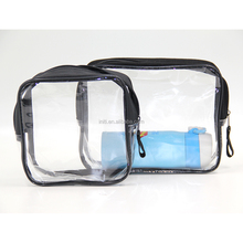 2017 high quality mini clear PVC cosmetic bag with zipper