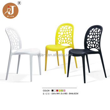 wholesale outdoor armless colored plastic chair for events view