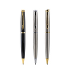 New Office Special Business Pen Stainless Steel Sand Brush Metal Ballpoint Pen Promotional Advertising Gift pen Custom