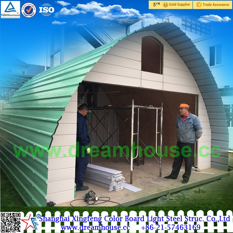 Prefab Dome Homes: China Prefab Arched Cabin/modular Dome Home For Sale
