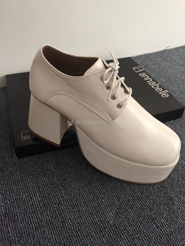 4120257c54 Saturday Night Fever Platform Shoes Silver Retro platform shoes Size 6 UK