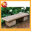 Outdoor stone and wood garden piano bench for garden furniture