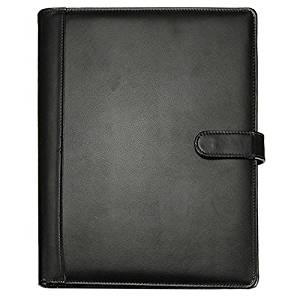 Folder - TOOGOO(R)Black A4 Executive Conference Folder Portfolio PU Leather Document Organiser
