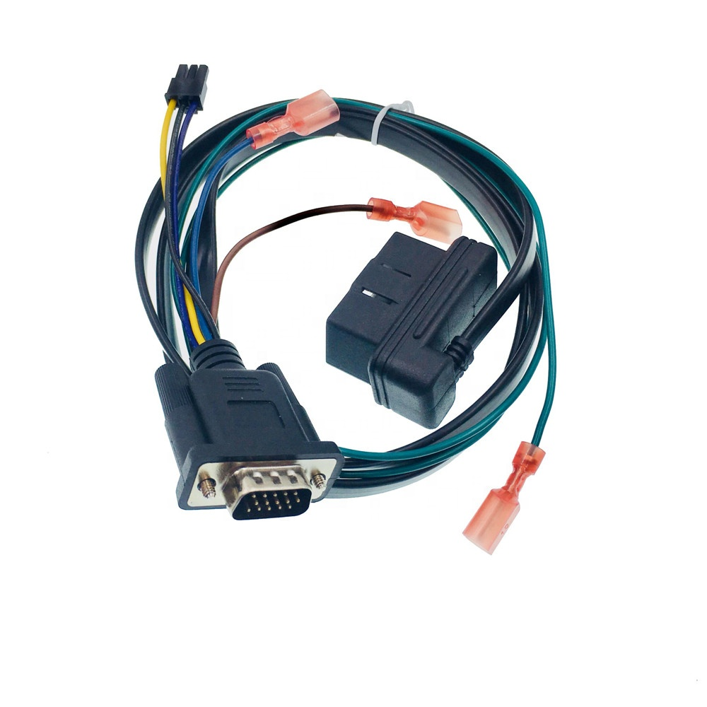 top sale high quality obd gps tracking cable obdii auto wiring harness