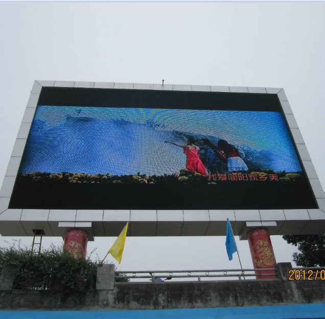 Decoration wind proof High Resolution P10 Lamp Pole P8 Outdoor Led Screen no fans long-term Support