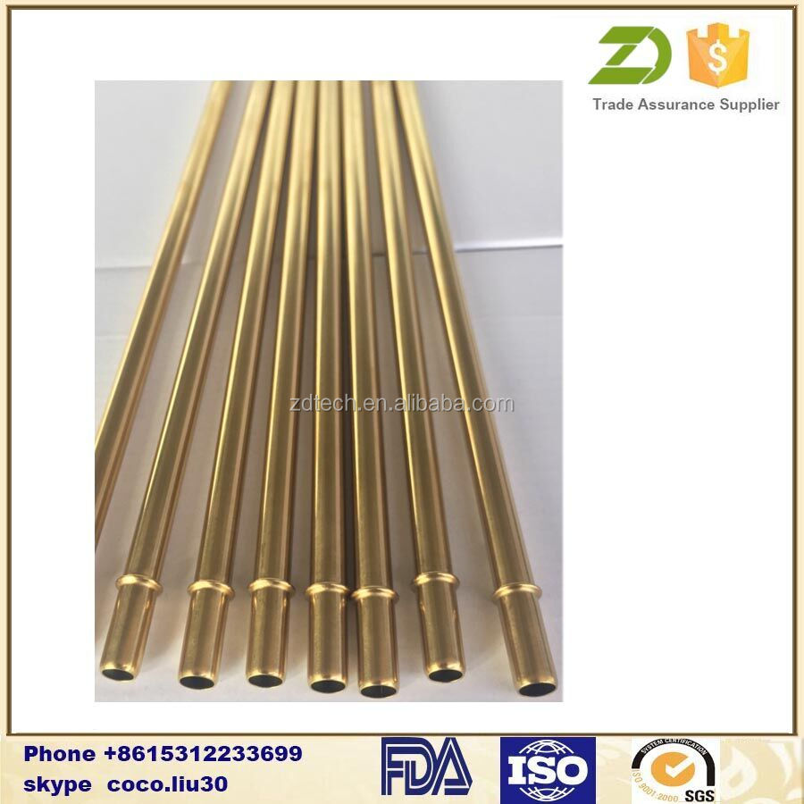 Gold drinking straws Stainless Steel reusable drinking straw ZDS1366